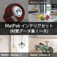 MatPak インテリアセット(材質データ集I~III)